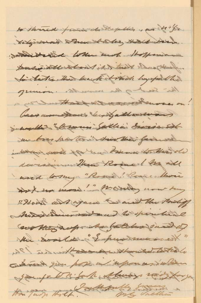 Joseph Holt Papers: General Correspondence and Related Material, 1817-1894; 1871, Jan. 6-1872, Jan. 8