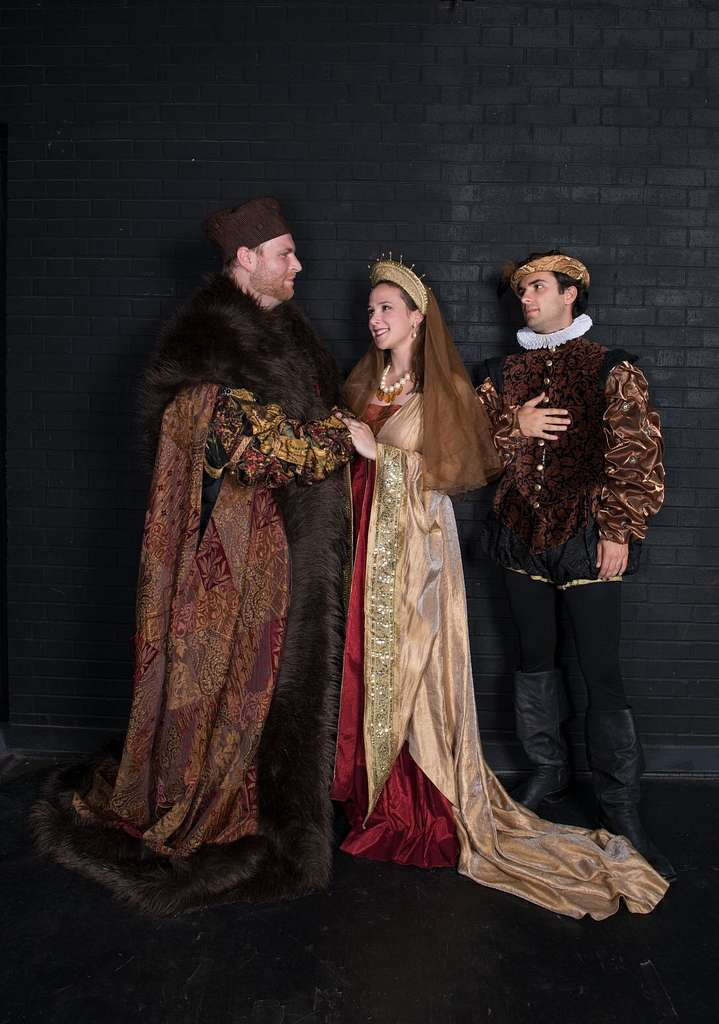 Michael Thatcher of Lancaster, Pennsylvania; Caitlin Cavannaugh of Chicago, Illinois; and Andi Dema of Bloomington, Indiana, are three members of the company of the Texas Shakespeare Festival at Kilgore College in Kilgore, Texas