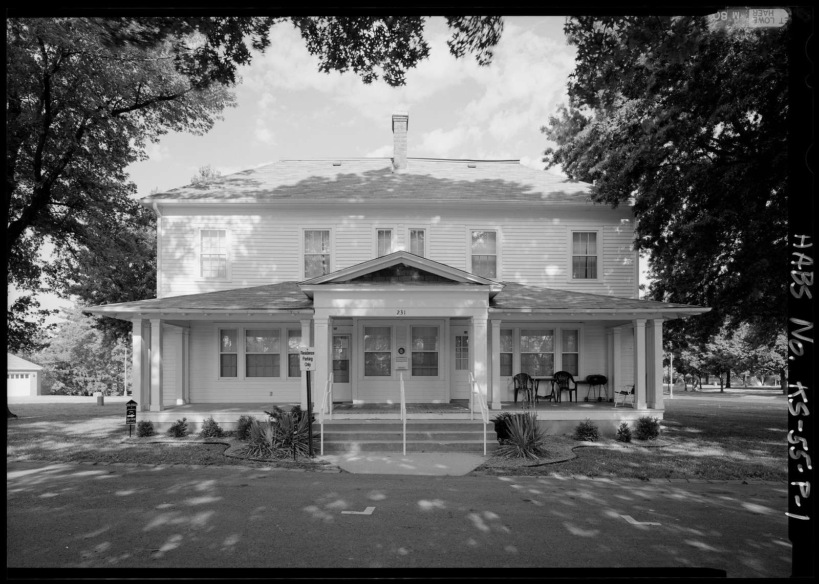National Home for Disabled Volunteer Soldiers, Western Branch, Duplex Quarters No. 201-202, Franklin Avenue, Leavenworth, Leavenworth County, KS