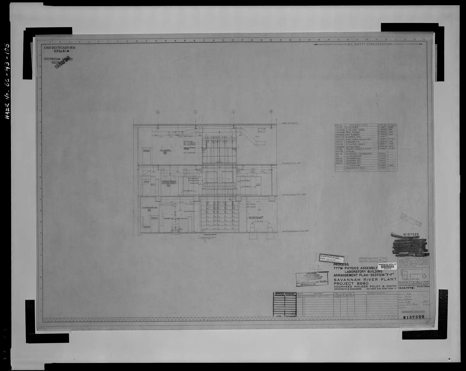 Physics Assembly Laboratory, Area A/M, Savannah River Site, Aiken, Aiken County, SC