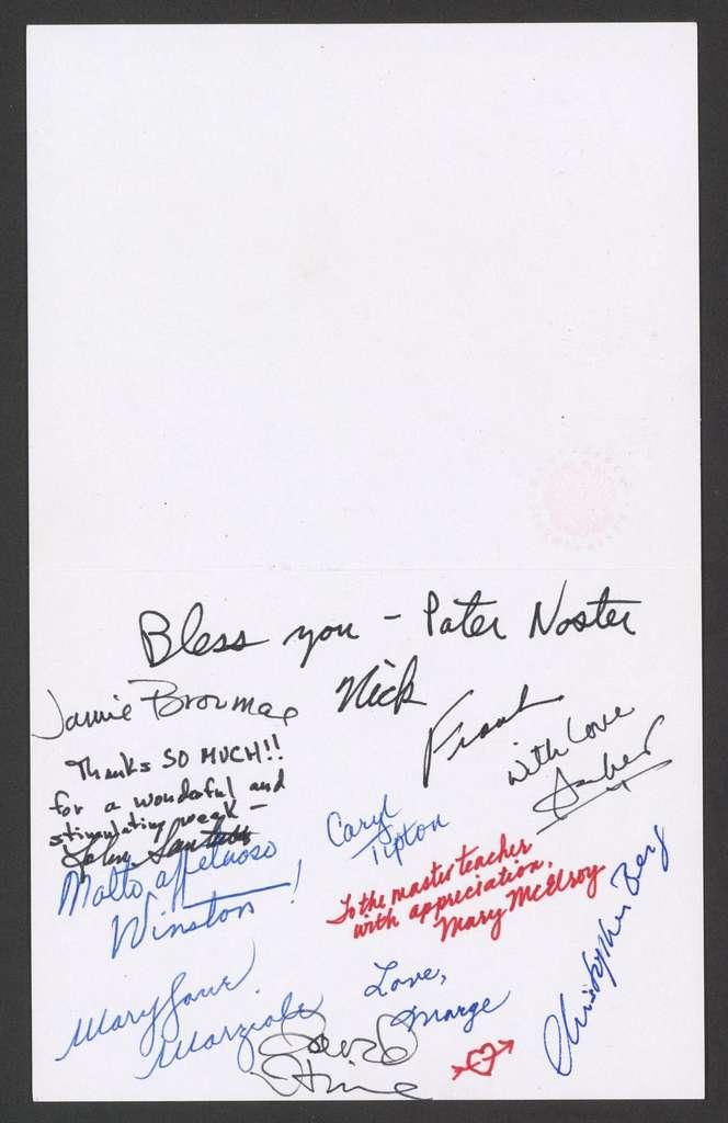 The Philharmonic-Symphony Society of New York to Leonard Bernstein, October, 1986