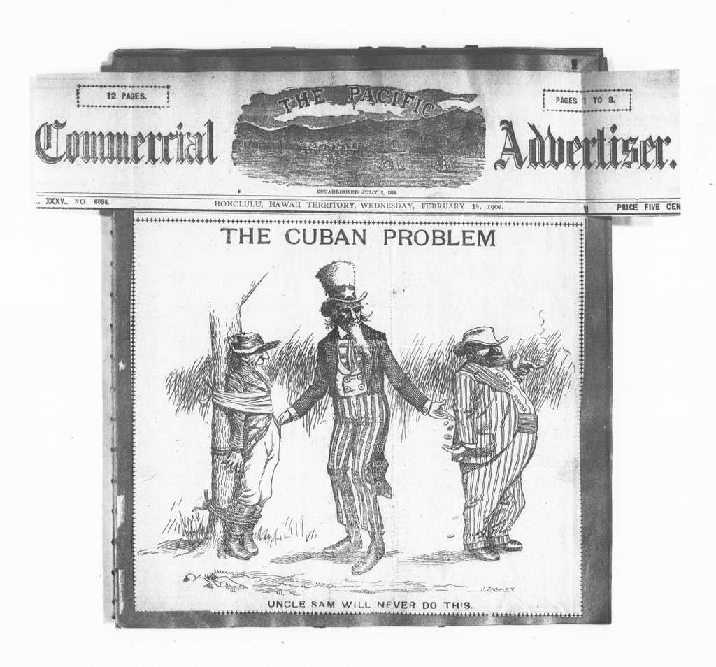 Theodore Roosevelt Papers: Series 15: Scrapbooks, 1895-1910; Cartoons & Illustrations; Vols. 1-3, 1902, Feb. 19-1904, Sept. 4