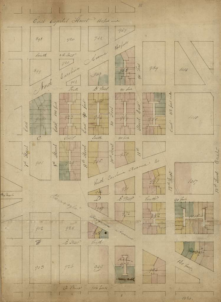 5th plan, from 7th east to 13th Street and G Street south to East Capitol Street : [S.E. Washington D.C.].