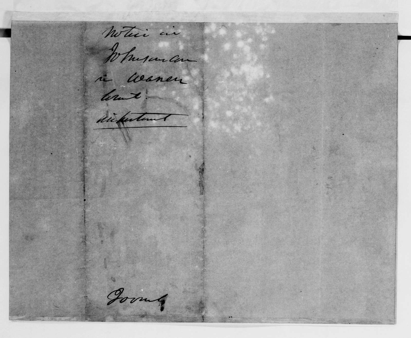 Alexander Hamilton Stephens Papers: General Correspondence, 1784-1886; 1852, Oct. 15-1855, Dec. 27
