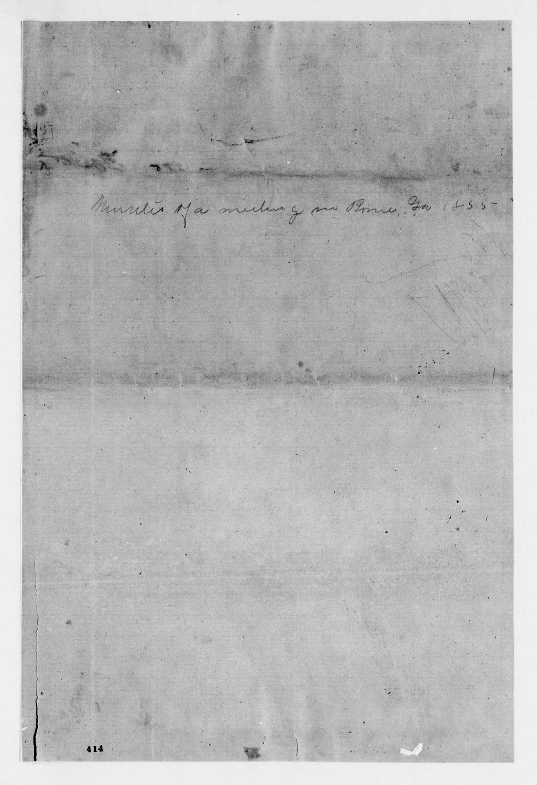 Alexander Hamilton Stephens Papers: General Correspondence, 1784-1886; 1852, Oct. 15-1855, Dec. 27