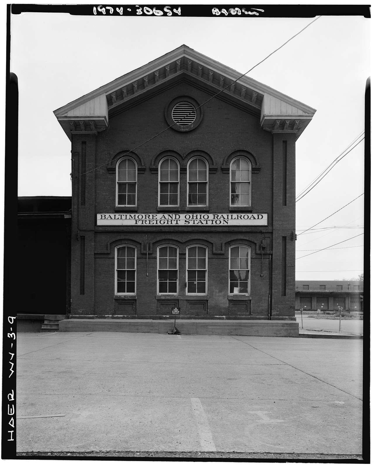 Baltimore & Ohio Railroad, Wheeling Freight Station, Fourteenth & South Streets, Wheeling, Ohio County, WV