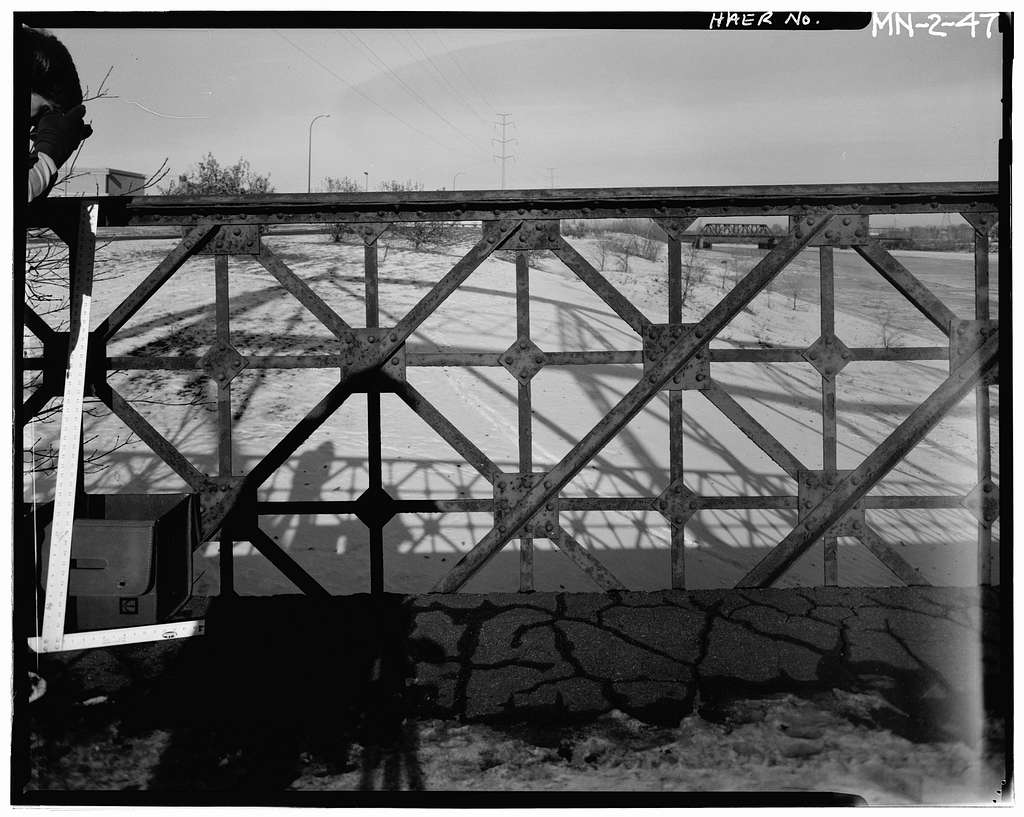 Broadway Bridge, Spanning Mississippi River at Broadway Street, Minneapolis, Hennepin County, MN