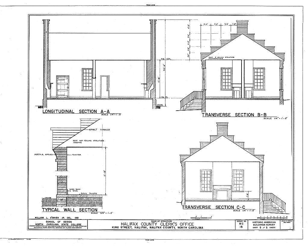Halifax County Clerk's Office, King & Market Streets, Halifax, Halifax County, NC
