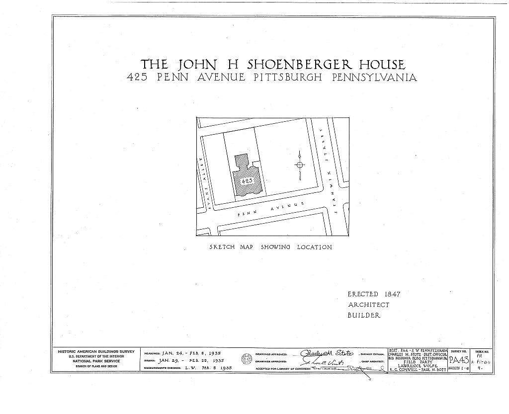 John H. Shoenberger House, 425 Penn Avenue, Pittsburgh, Allegheny County, PA