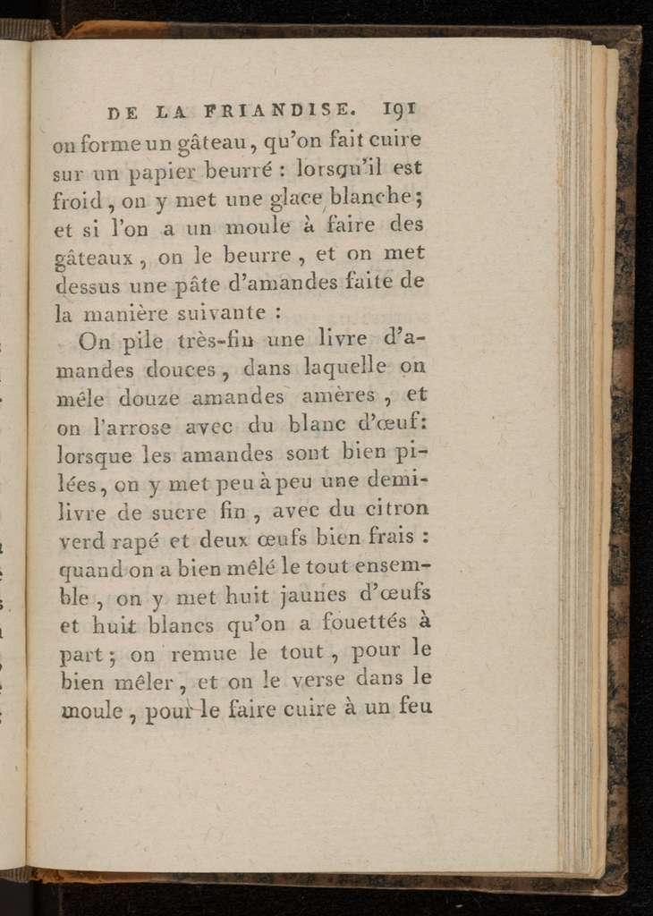 Le manuel de la friandise.