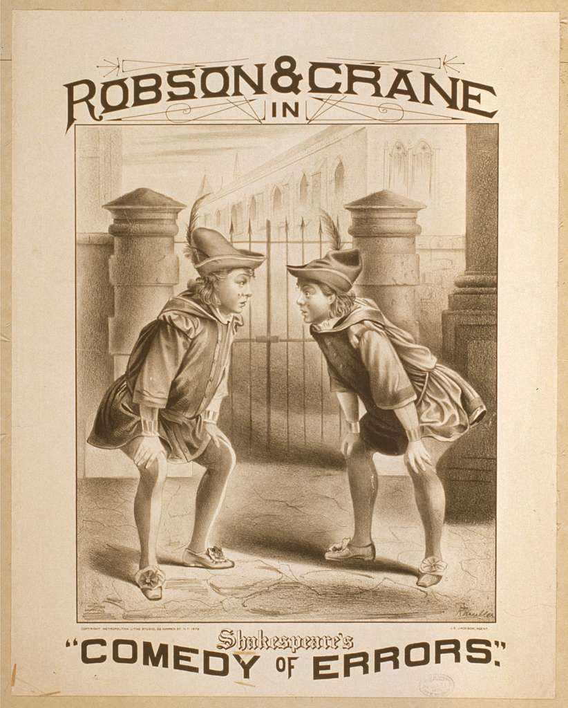 """Robson & Crane in Shakespeare's """"Comedy of errors"""""""