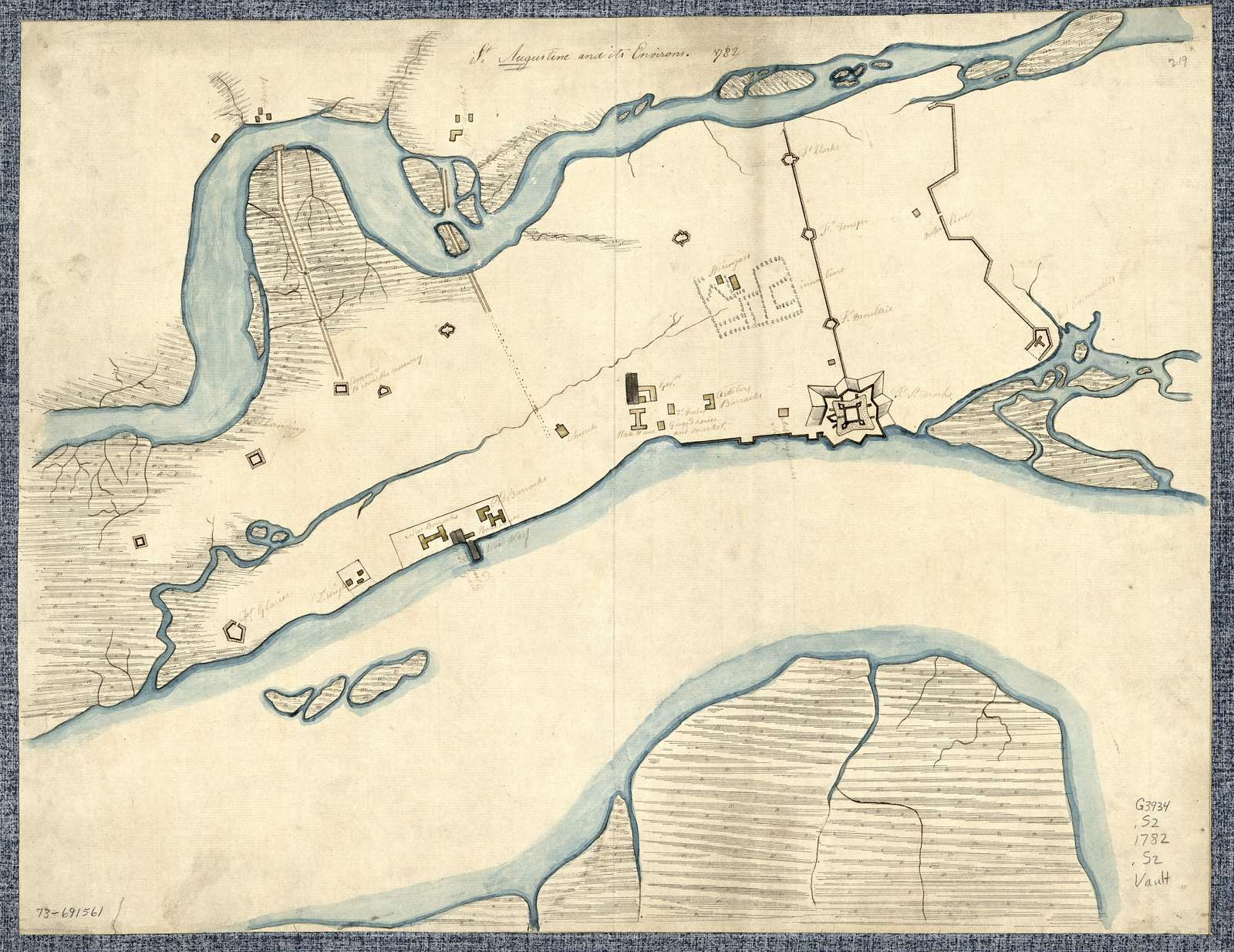 St. Augustine and its environs.