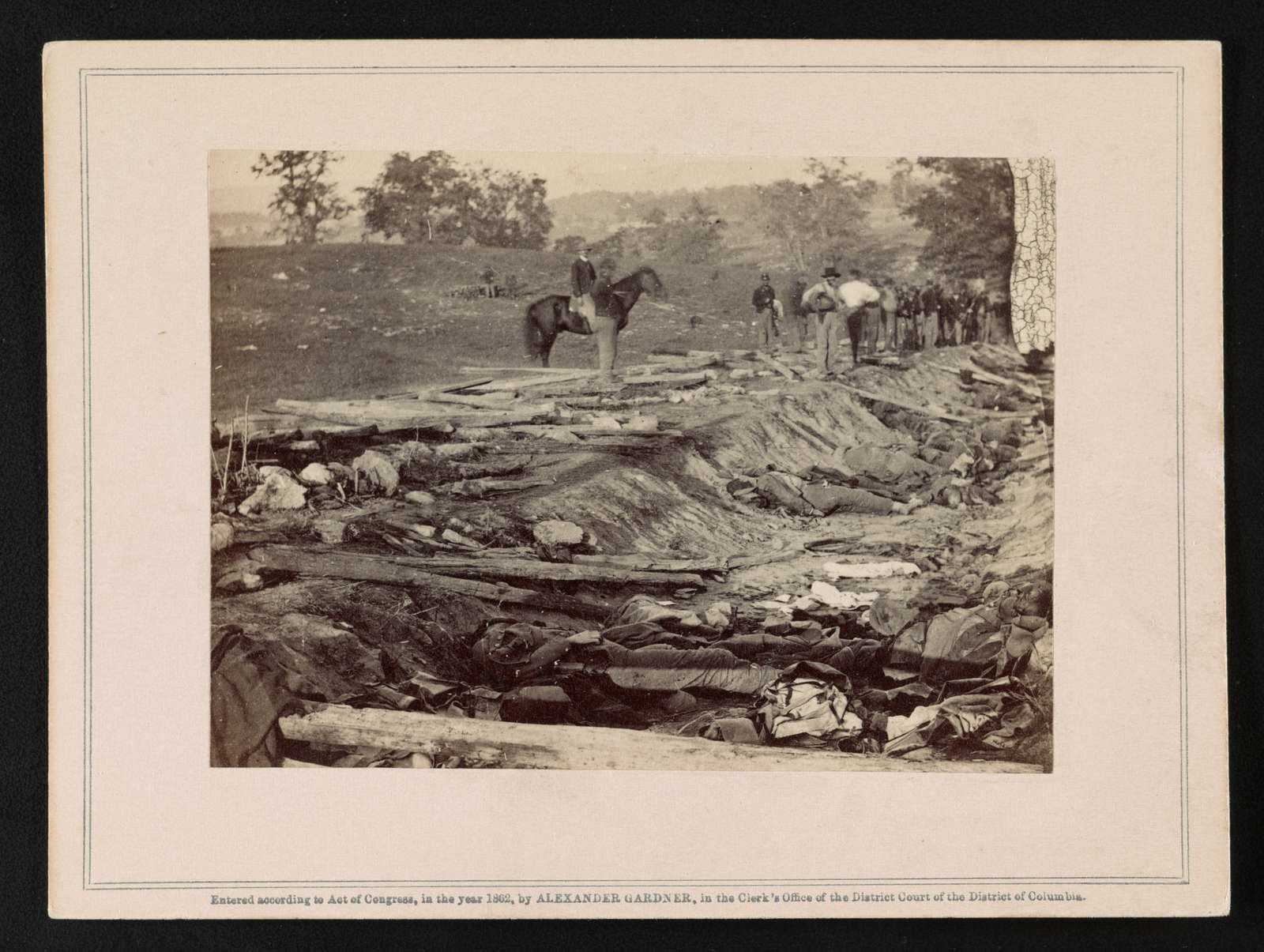 View of ditch, which had been used as a rifle-pit at the Battle of Antietam