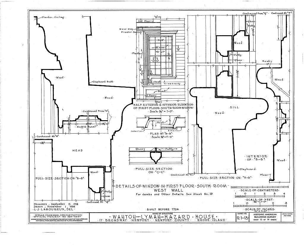 Wanton-Lyman-Hazard House, 17 Broadway, Newport, Newport County, RI