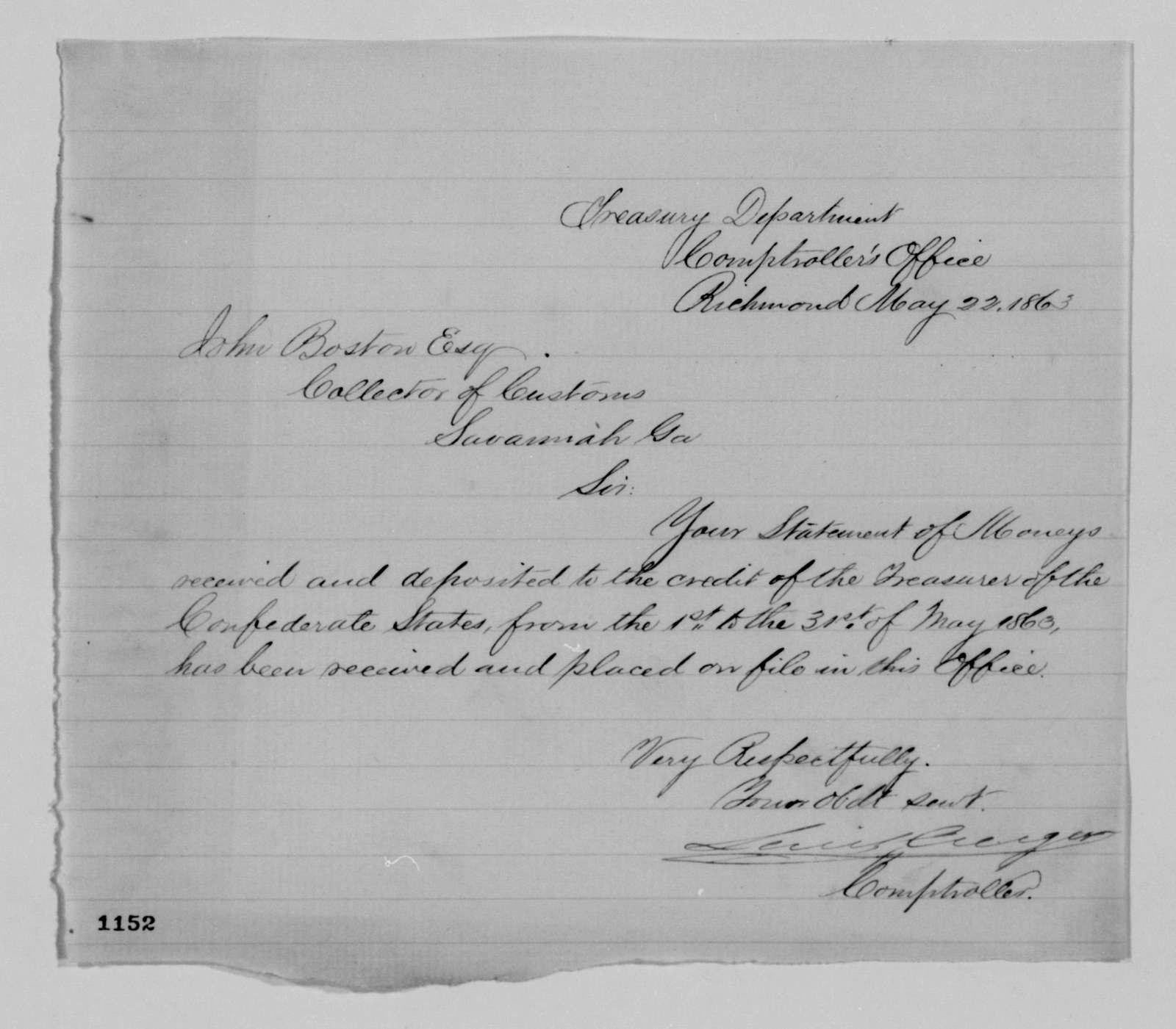 Confederate States of America records: Microfilm Reel 47