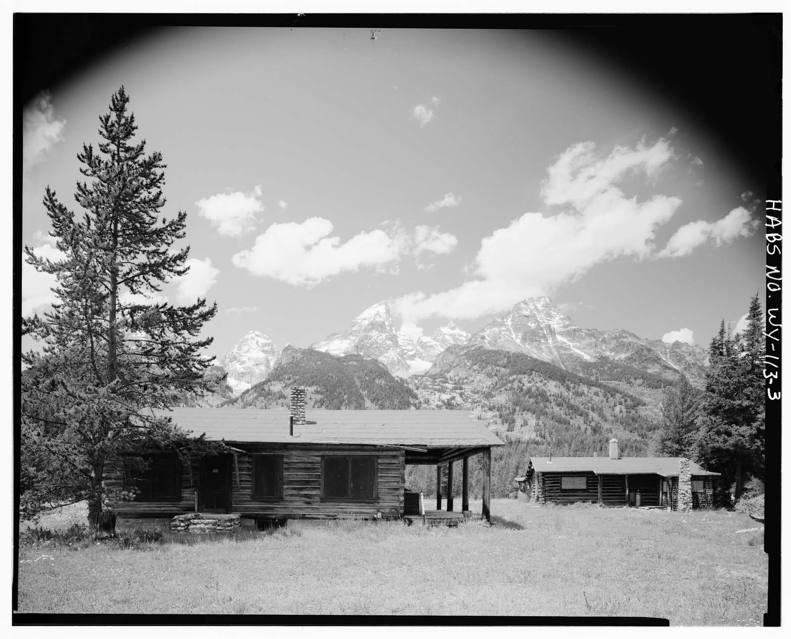 Geraldine Lucas Homestead, West bank Cottonwood Creek, 2.5 miles downstream from Jenny Lake, Moose, Teton County, WY