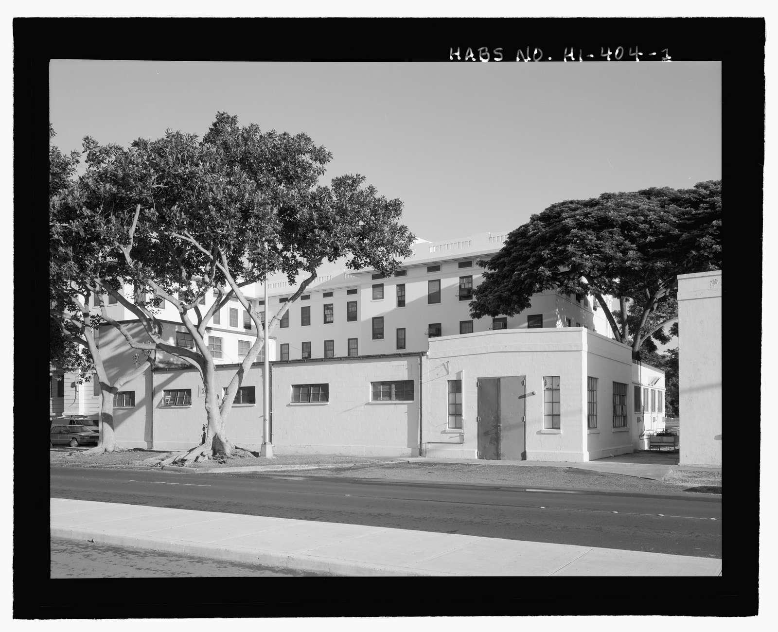 U.S. Naval Base, Pearl Harbor, Boiler House & Cold Storage, Butchers Shop & Dry Stores Building, South Avenue near Salvor Street, Pearl City, Honolulu County, HI