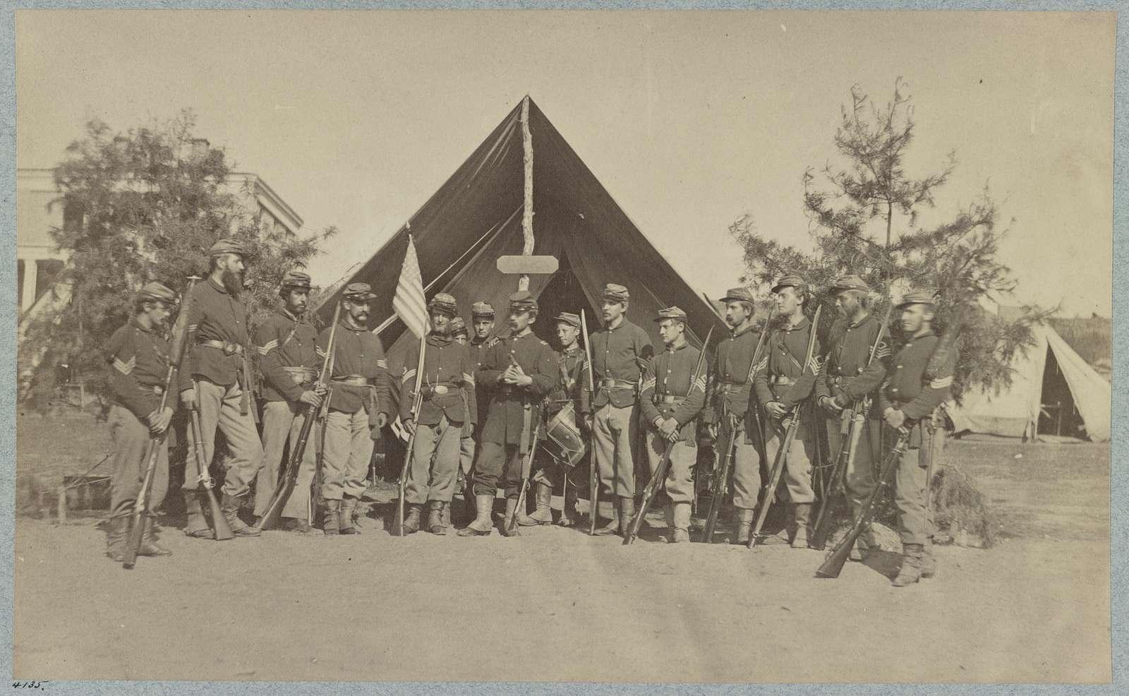 Adjutant and First Sergeants, 22d N. Y. S. M. near Harper's Ferry, Va.1861 (i.e.1862?)