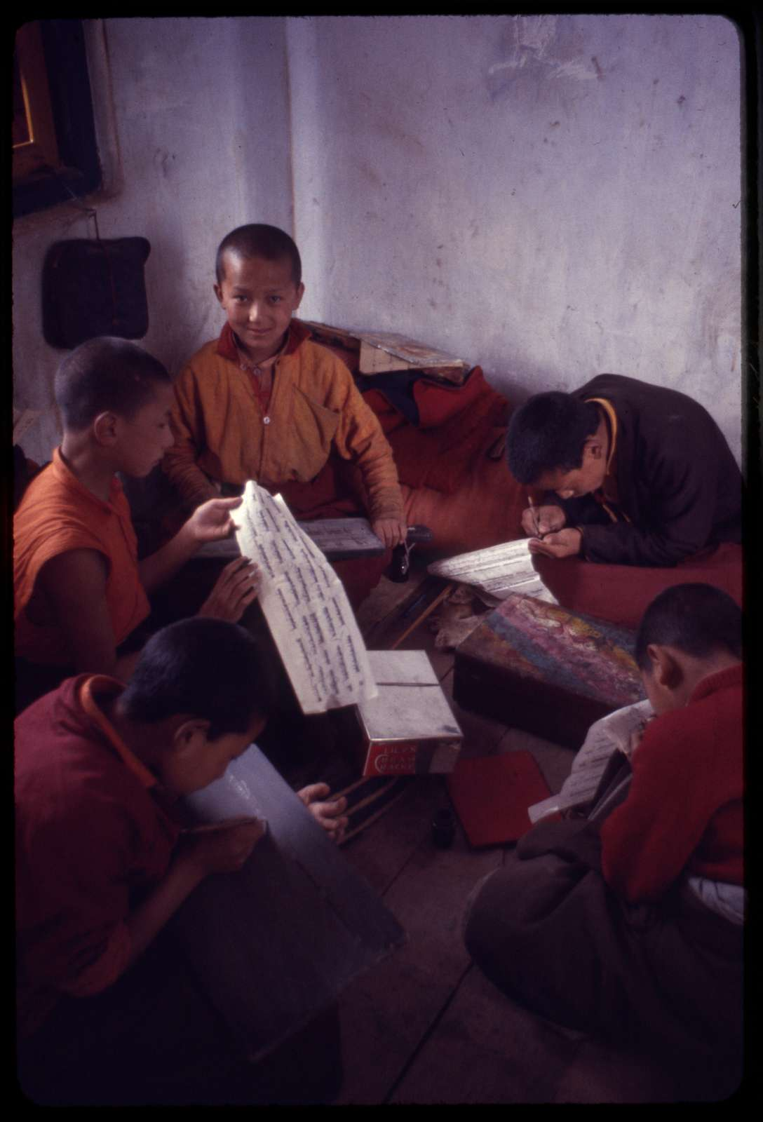 [Class learning to read and write, Sikkim]