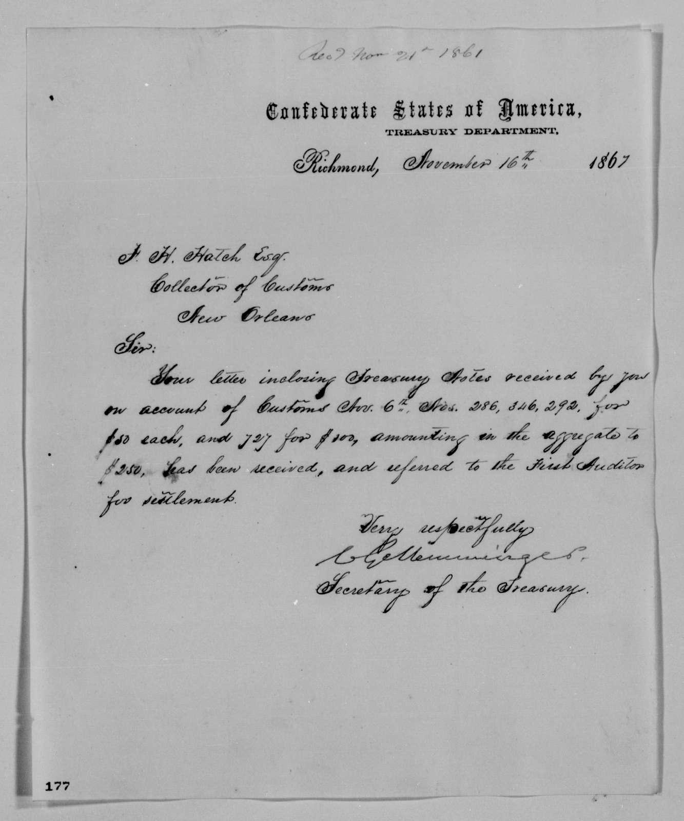 Confederate States of America records: Microfilm Reel 44
