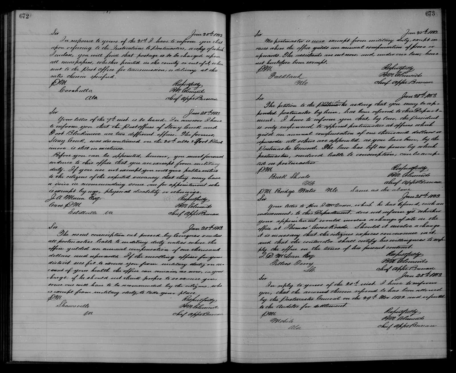 Confederate States of America records: Microfilm Reel 50