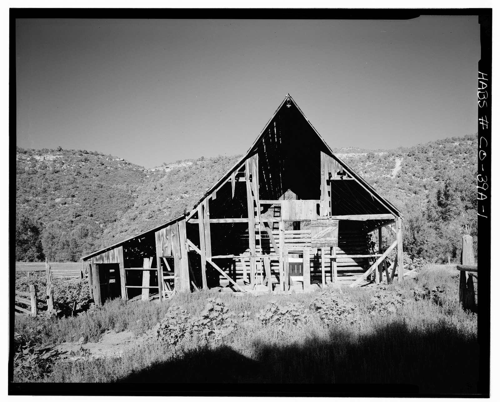 Kuhlman-Periman Ranch, Barn, County Route 28, Dolores, Montezuma County, CO