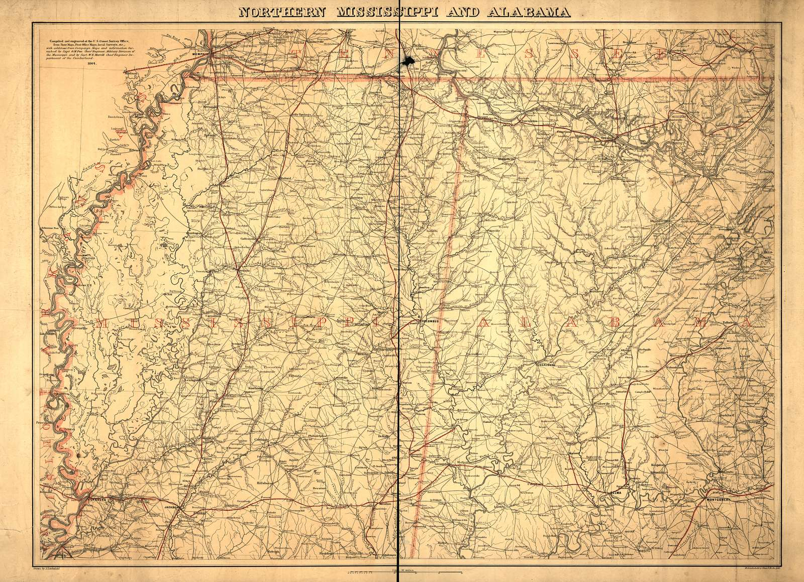 Northern Mississippi and Alabama
