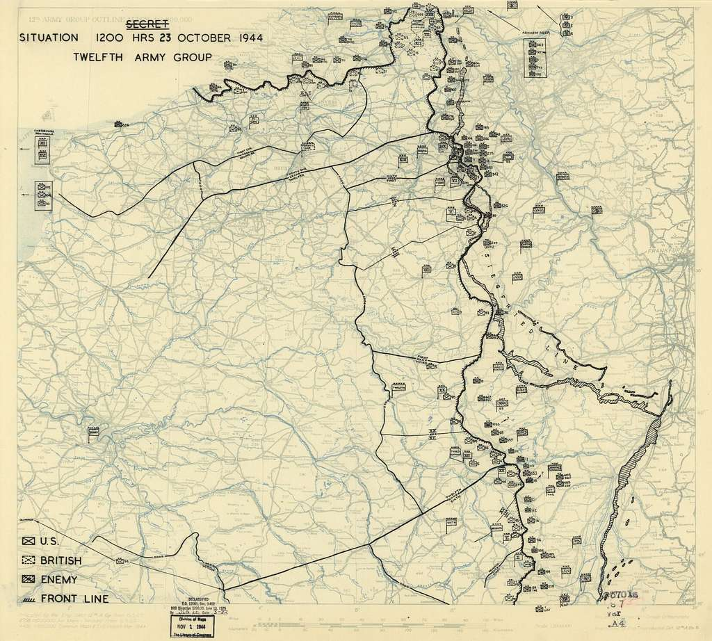 [October 23, 1944], HQ Twelfth Army Group situation map.
