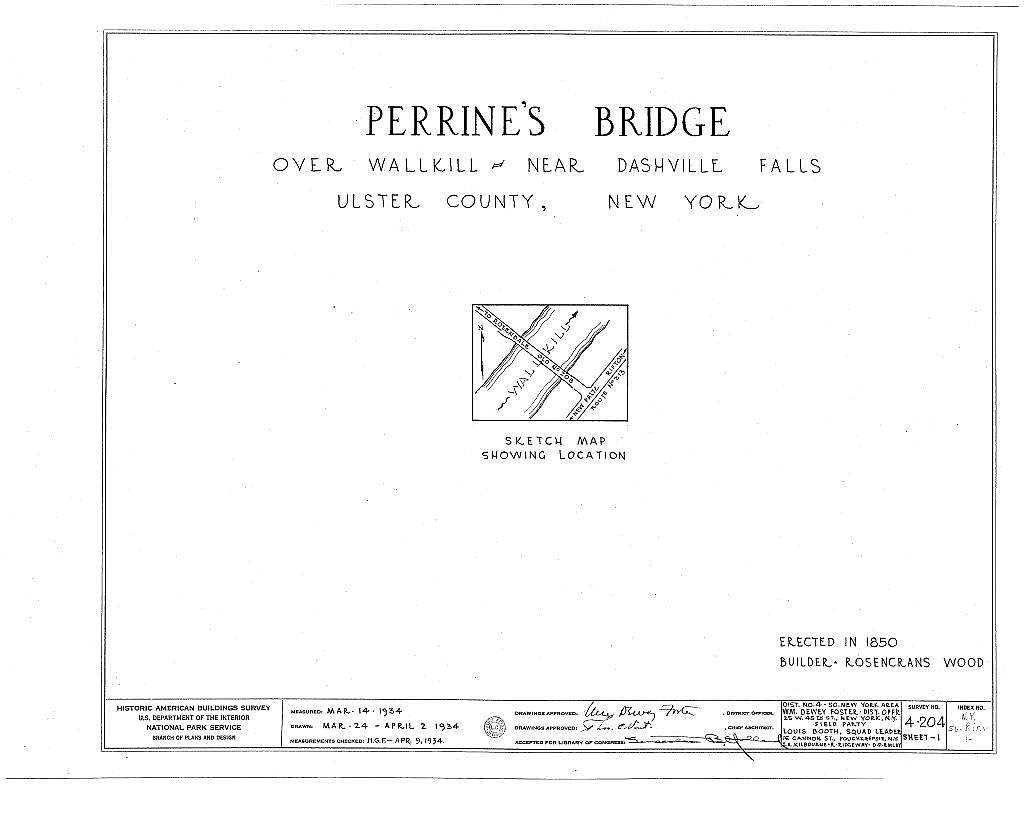 Perrine's Bridge, Spanning Wallkill River, Rifton, Ulster County, NY