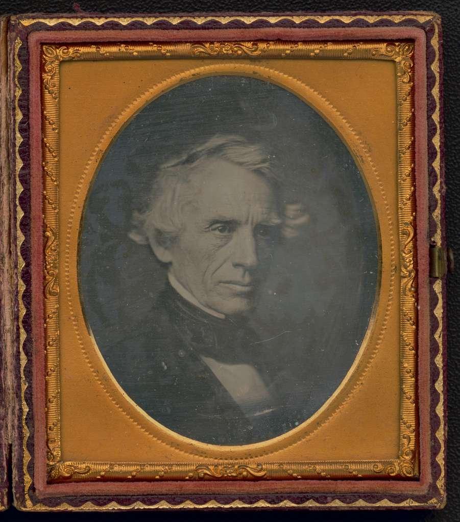 [Samuel F. B. Morse, head-and-shoulders portrait, facing right]