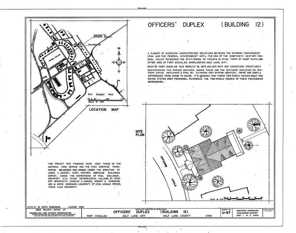 Fort Douglas, Officers' Duplexes, Officers' Circle, Salt Lake City, Salt Lake County, UT