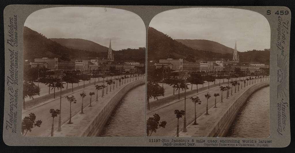 Rio de Janeiro's 5 mile quay, encircling world's largest land-locked bay