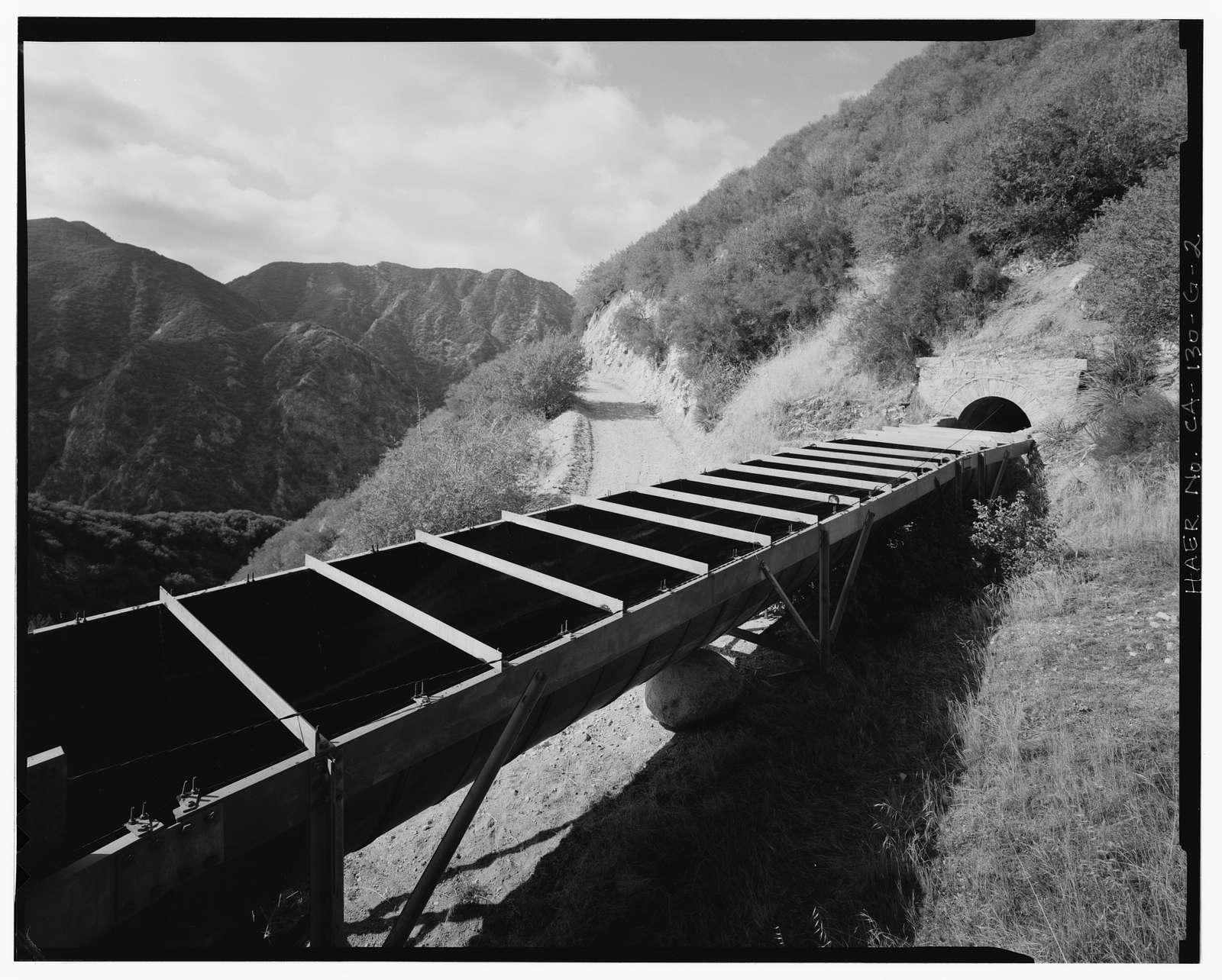 Santa Ana River Hydroelectric System, Flumes & Tunnels below Sandbox, Redlands, San Bernardino County, CA