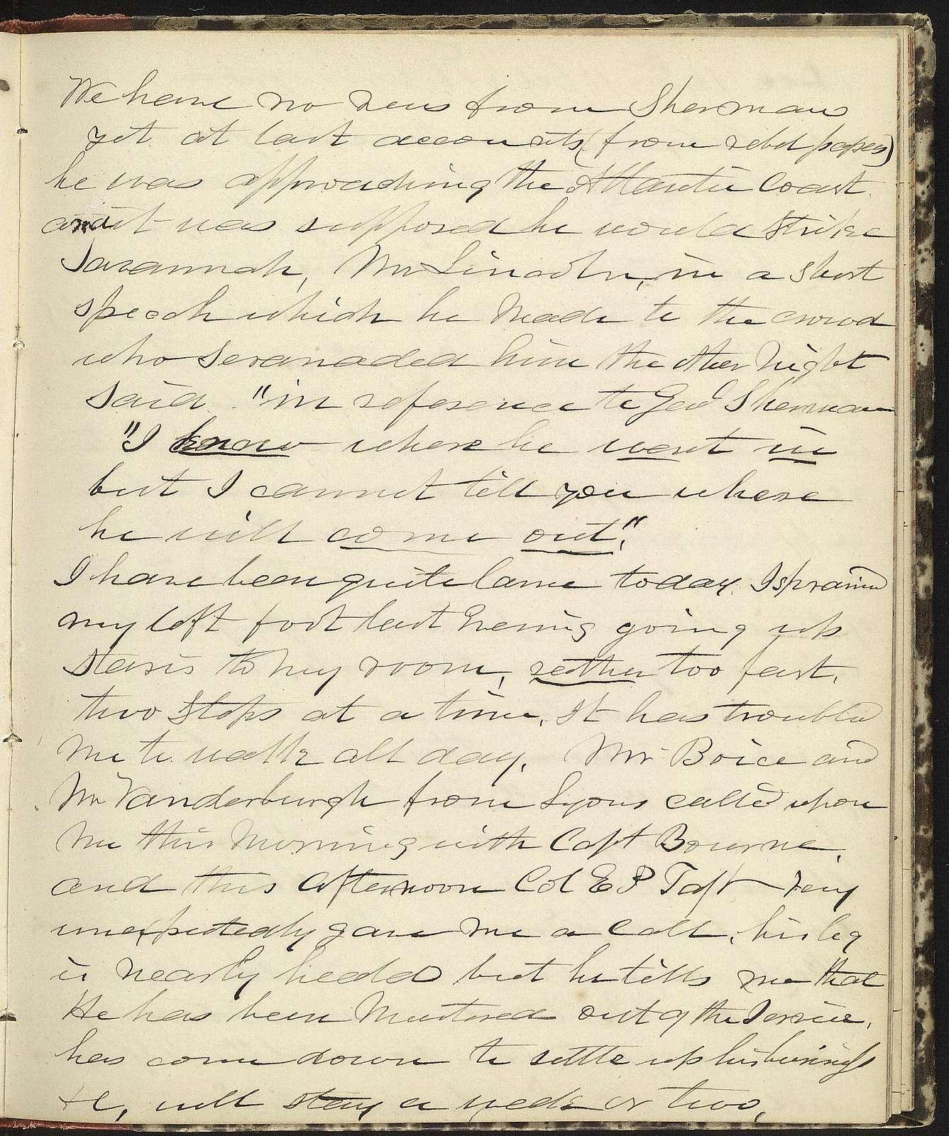 The Diary of Horatio Nelson Taft, 1861-1865. Volume 3, January 1, 1864-May 30, 1865