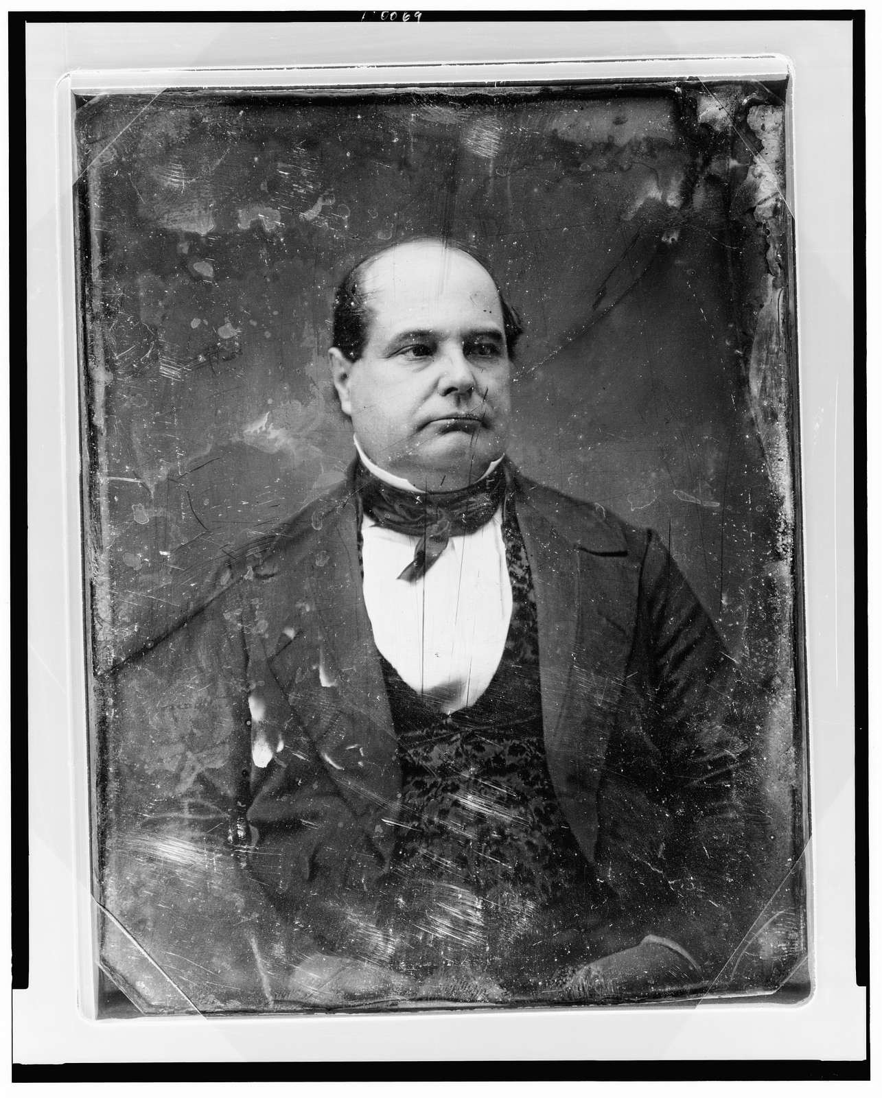 [Unidentified man, about 40 years of age, half-length portrait, nearly facing front, head slightly to the right]