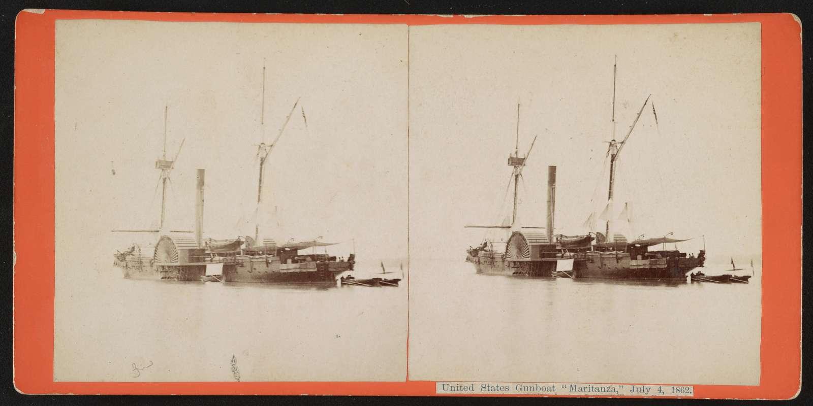 "United States gunboat ""Maritanza,"" July 4, 1862"