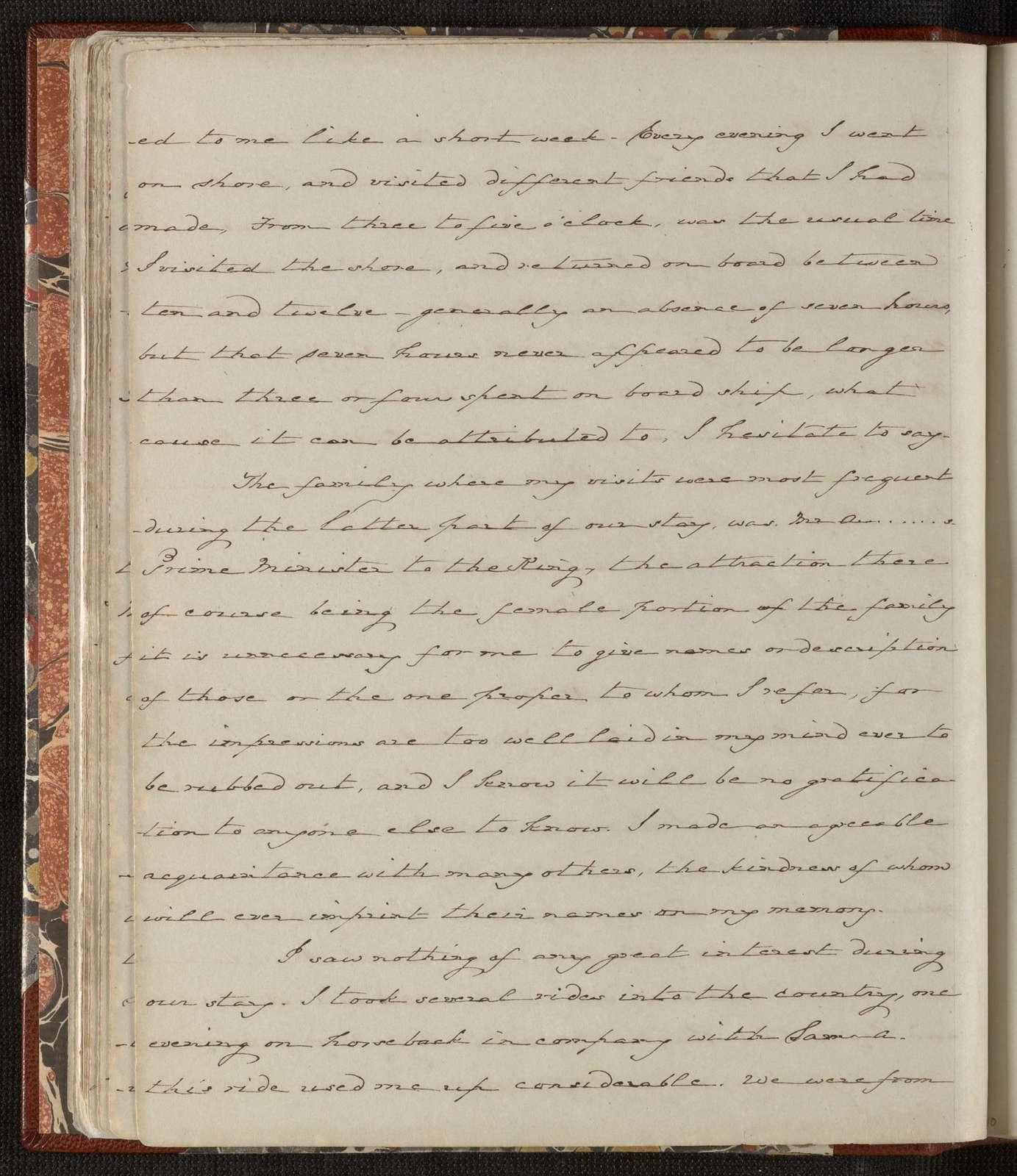 William Speiden journals: Vol. 2, July 3, 1854-Feb. 16, 1855
