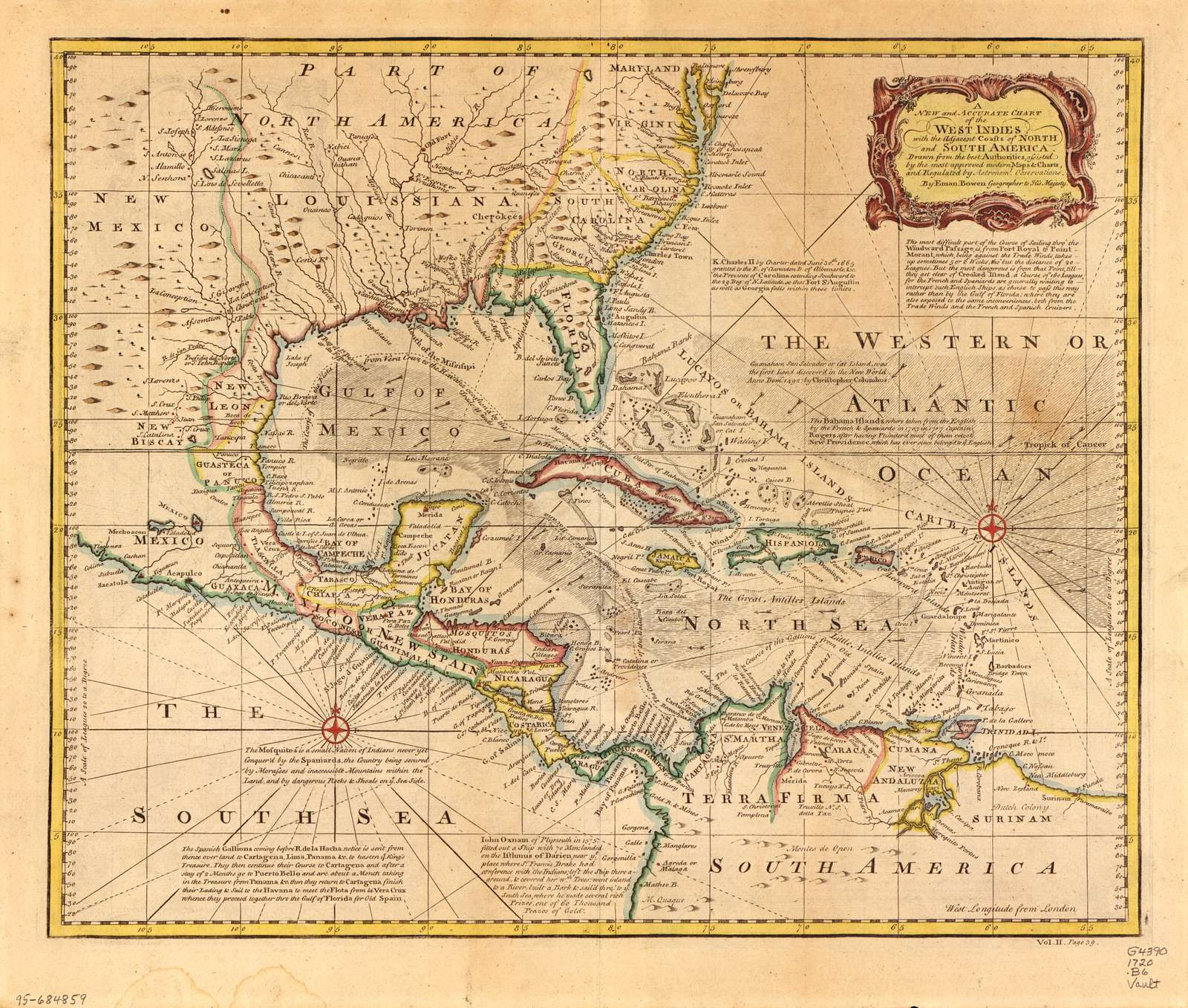 A new and accurate chart of the West Indies with the adjacent coasts of North and South America /