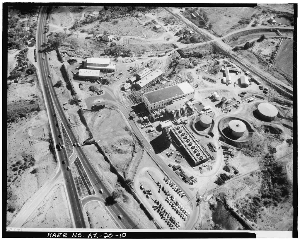 Crosscut Steam Plant, North side Salt River near Mill Avenue & Washington Street, Tempe, Maricopa County, AZ