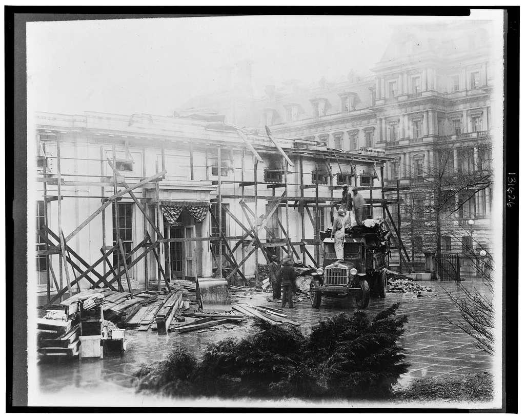 Executive offices undergoing repairs