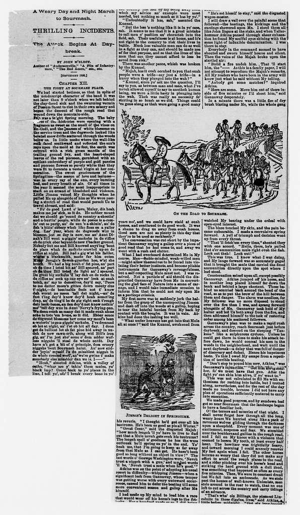 Jedediah Hotchkiss Papers: Miscellany, circa 1846-1908; Newspaper clippings, circa 1855-1899; Cedar Mountain, Va