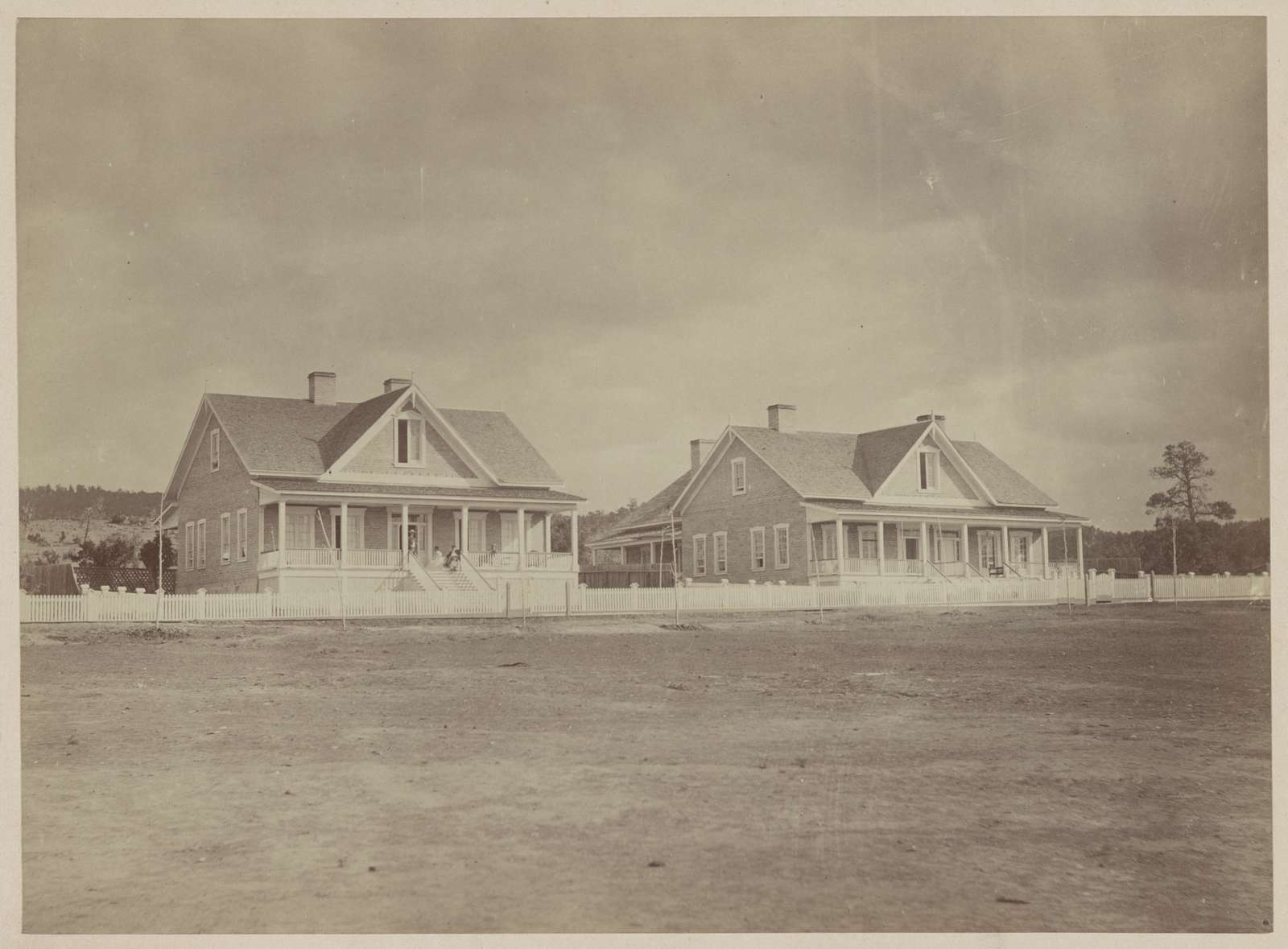 Officers' quarters, Fort Wingate, New Mexico, 1873 / T. H. O'Sullivan, photographer.