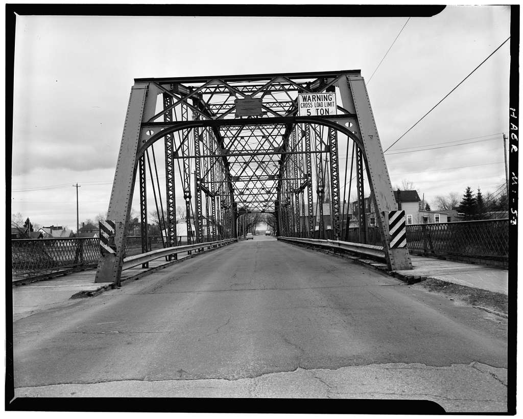 Spruce Street Bridge, East Spruce Street, 500 Block, spanning Power Canal, Sault Ste. Marie, Chippewa County, MI