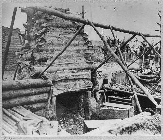 Abandoned camp of 9th Army Corps near Falmouth, Va., February, 1863