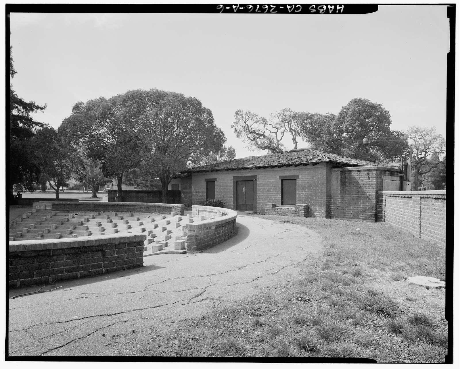 Burton Park, Club House & Amphitheater, Adjacent ot south end of Chestnut Avenue, San Carlos, San Mateo County, CA