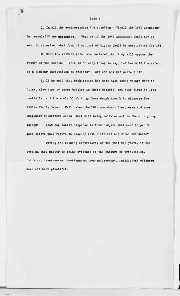 Carrie Chapman Catt Papers: Speech and Article File, 1892-1946; Speeches; Undated