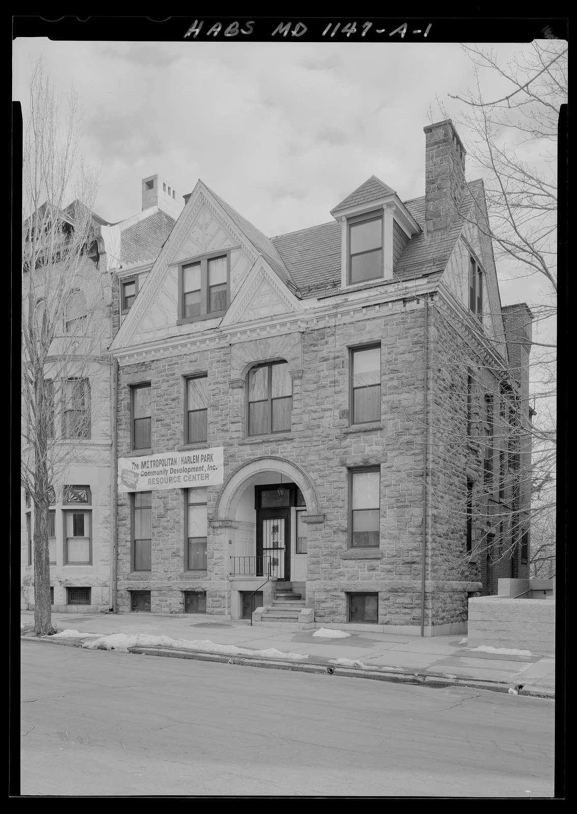 Grace Methodist Episcopal Church, Parsonage, 1119 West Lanvale Street, Baltimore, Independent City, MD