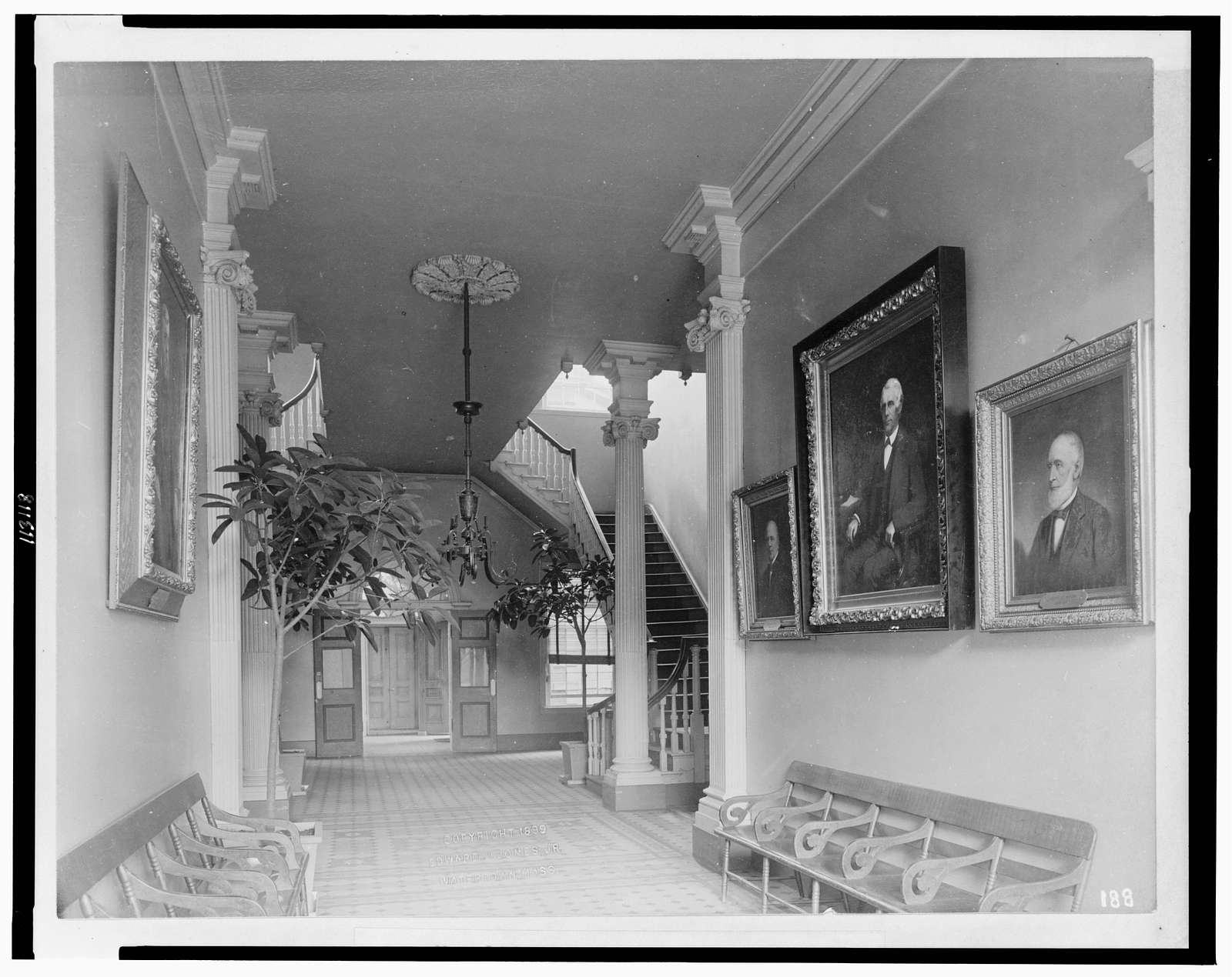 [Hallway in Pennsylvania Hospital, Philadelphia]