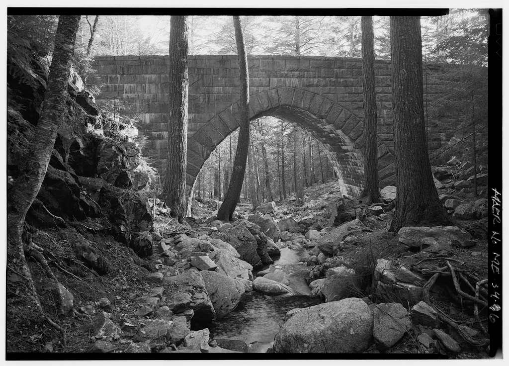 Hemlock Bridge, Spanning Maple Spring Brook on West Sargent Mountain Carriage Road, Northeast Harbor, Hancock County, ME