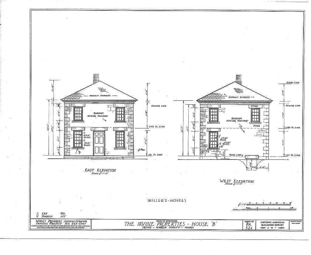 Irvine Estate, Miller's House, Irvine, Warren County, PA